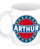 Voornaam arthur koffie thee mok of beker