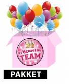 Vrijgezellenfeest feestpakket roze