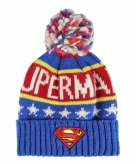 Warme wintermuts superman voor kids