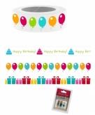 Washi plakband met ballonnen