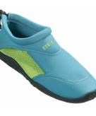 Waterschoenen met anti slip zool turquoise groen