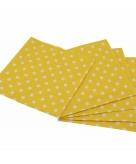 Wegwerp servetten geel met witte stippen 33 cm
