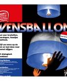 Wensballonnen rood wit blauw 39 x 58 x 106 cm