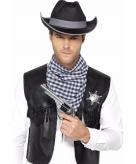 Western verkleed set zwart voor heren