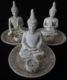 Wierookbrander set 3 boeddhas