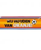 Wij houden van oranje pvc wandbord