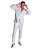 Wit disco kostuum met pailletten
