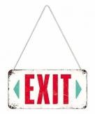 Wit exit ophangbordje