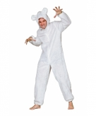 Wit ijsberen pak voor volwassenen
