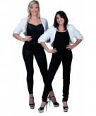 Wit nepbonten jasje voor dames 10080259