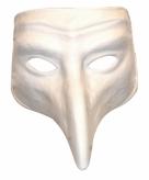 Wit venetiaans comedy masker