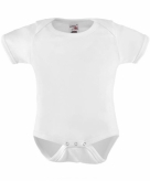 Witte baby rompers
