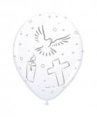 Witte communie ballonnen 8 stuks