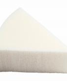Witte driehoekige sponsjes 8 stuks