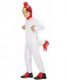 Witte haan kip doodle verkleedkleding voor jongens