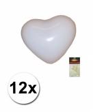 Witte hartjes ballonnen 12 stuks
