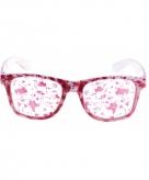 Witte horror bril met bloedvlekken