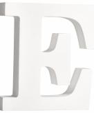 Witte houten letter e 11 cm