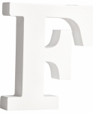 Witte houten letter f 11 cm