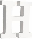 Witte houten letter h 11 cm