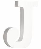 Witte houten letter j 11 cm