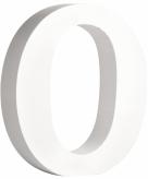 Witte houten letter o 11 cm