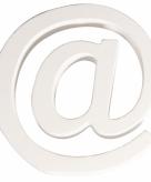 Witte houten symbool 11 cm