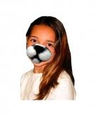Witte kattenneus masker voor kids