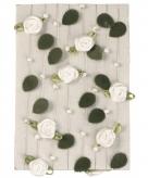 Witte rozen slingers 2 meter