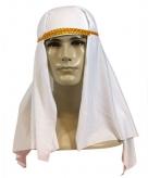 Witte sheik hoed