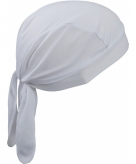 Witte sport bandana