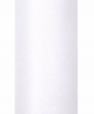 Witte tule stof met glitters 15 cm breed