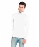 Witte turtle neck t-shirt voor heren