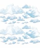 Witte wolken decoratie 24 delig