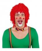 Wollen clowns pruik rood