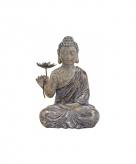 Woondecoratie boeddha met bloem beeld 48 cm