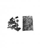 Zakken confetti zilver 1 kilo