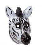 Zebra masker gemaakt van plastic 3d 22cm