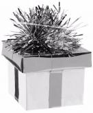 Zilver ballon gewicht cadeaudoosje 175 gram