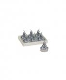 Zilveren boeddha theelichtjes 6 stuks