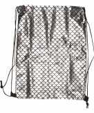 Zilveren gymtasje met zeemeermin schubben print