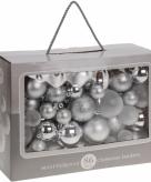 Zilveren kerstballenset 86 delig