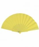 Zomerse waaier geel 23 cm
