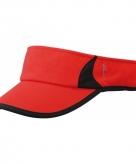 Zonneklep voor hardlopers rood zwart