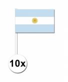 Zwaaivlaggetjes argentinie 10 stuks