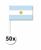 Zwaaivlaggetjes argentinie 50 stuks