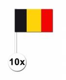 Zwaaivlaggetjes belgie 10 stuks