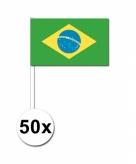Zwaaivlaggetjes brazilie 50 stuks