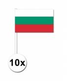 Zwaaivlaggetjes bulgarije 10 stuks