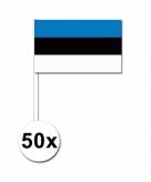Zwaaivlaggetjes estland 50 stuks
